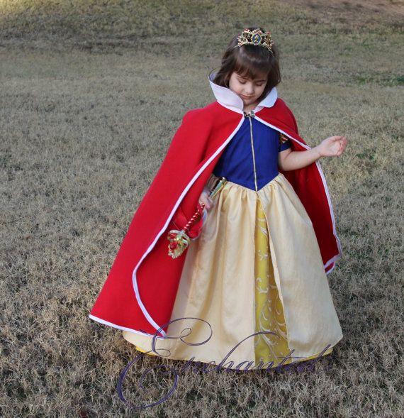 Snow White Polar Fleece Princess Cape red by enchanteddresses