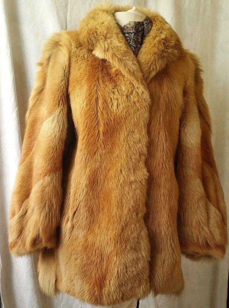 Beautiful Women's Red Fur Coat Size XL #furcoat #BasicCoat #eBay #Fashion