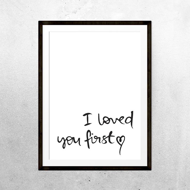 Image of I loved you first