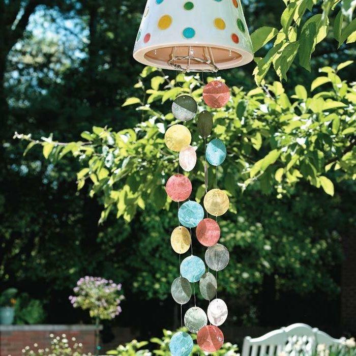 Gartendeko Zum Aufhangen Aus Tontopf Bastelprojekte Basteln Mit Tontopfen Tontopfe