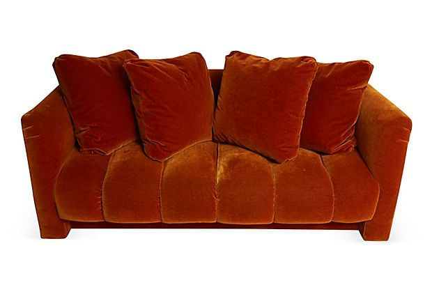 diy daybed sofas lime green leather corner sofa mohair burnt-orange w/ pillows on onekingslane.com # ...