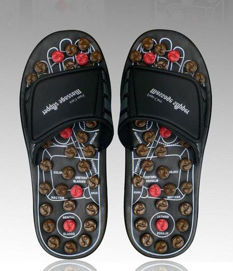 Reflexology Sandals - w/ Acupressure Rotating Massage Heads - Small