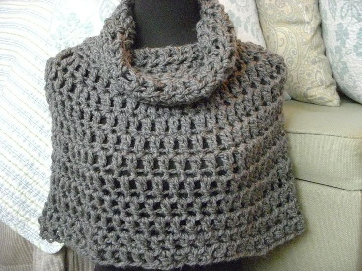 Crochet Poncho Pattern PDF Bennington Capelet Cowl Neck ...