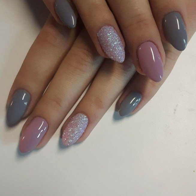 Gray, mauve and silver nails - Best 25+ Pink Grey Nails Ideas On Pinterest Classy Nail Designs