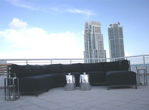 Our Graphite Modular Collection looks great on this South Beach rooftop.