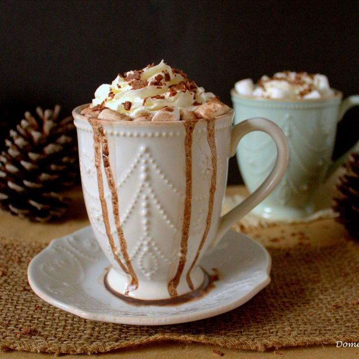 French Vanilla Hot Chocolate is a sweet & creamy twist on your favorite winter drink! I have been waiting a long time to share this hot chocolate recipe! I first made this simple French Vanilla Hot Chocolate almost 2 months ago & immediately fell in love... #chocolateshavings #christmas #creamer