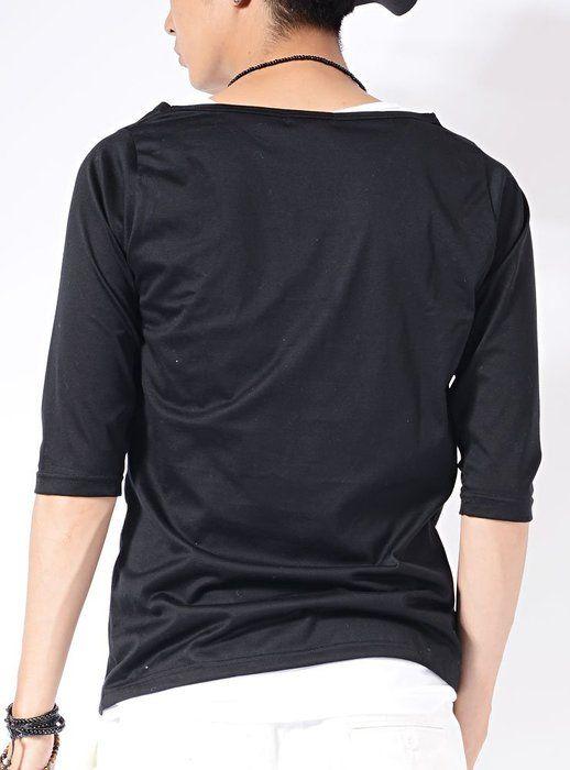 ブラック×ホワイト L (ジャックポート)JACK PORT 日本製 国産 2枚セット アンサンブル Tシャツコットン 綿 ロング丈タンクトップ ヘム ラウンド ロング ロング丈 ロンT Tシャツ メンズ 長袖 長そで 半袖 半そで 7分袖 7分 七分袖 七分 ストレッチ Uネック Vネック クルーネック カットソー コットン 綿 サイドZIP サイドジップ サイド切り込み サイドスリット ビッグサイズ サイズ ビックサイズ BIG ビッグ ビック シルエット BIGシルエット ビックシルエット ビッグシルエット スポーツ ロングTシャツ Tシャツロング メンズTシャツ Tシャツメンズ メンズカットソー カットソーメンズ ドレープ メッシュ 春 夏 秋 冬 JPP19331006036