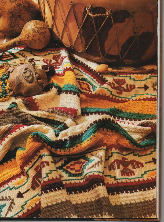 Gehaakte deken van de Indiase patroon instructies door TwineandSwirl
