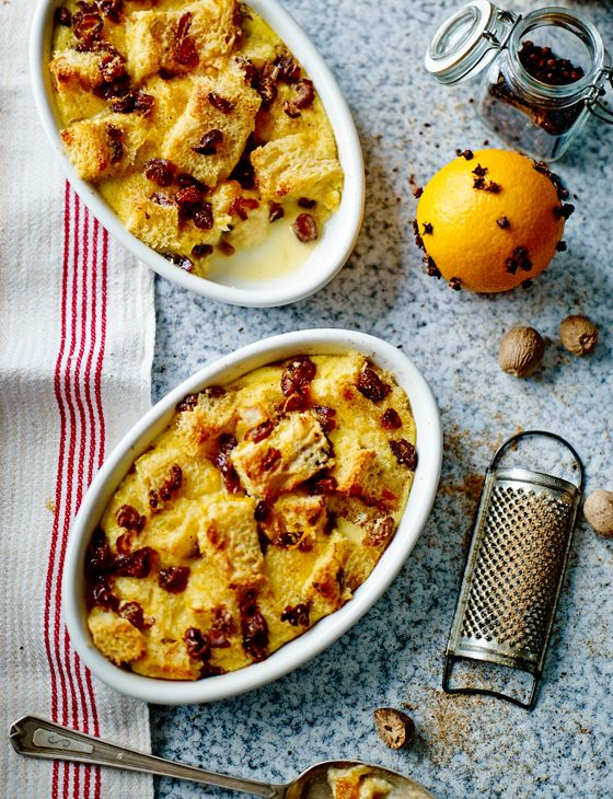 Put that leftover panettone to good use in this brandy and date bread pudding