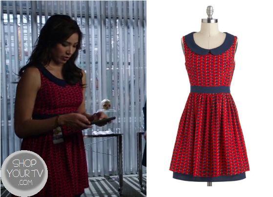 Bones: Season 9 Episode 3 Angela's Red Heart Dress - ShopYourTv