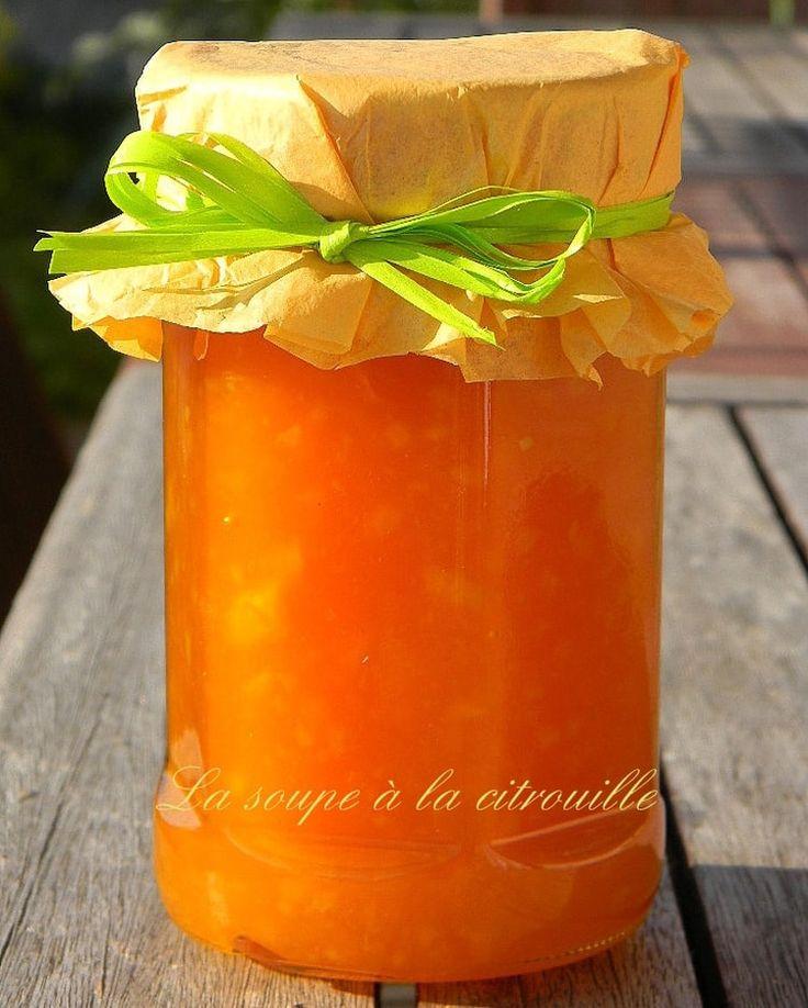 Marmelade de potiron aux pommes et aux agrumes