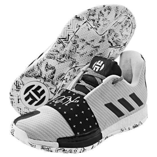 finest selection 4166b 58ab2 adidas Harden Vol.3 Mens Basketball Shoes NBA Shoes Casual White Black  AQ0035 adidas BasketballShoes