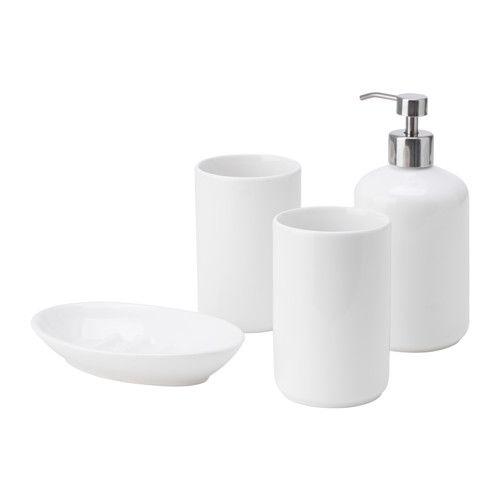 IKEA - BOASJÖ, 4-piece bathroom set