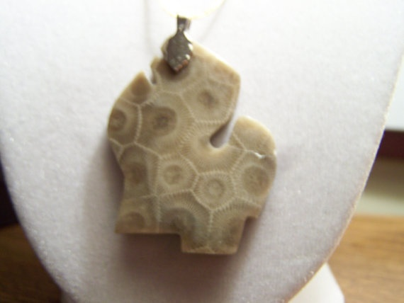 Michigan Petoskey Stone Pendant <3