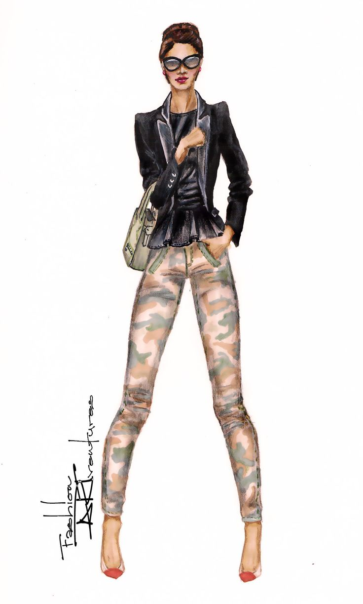 Designer fashion sketches of casual dresses