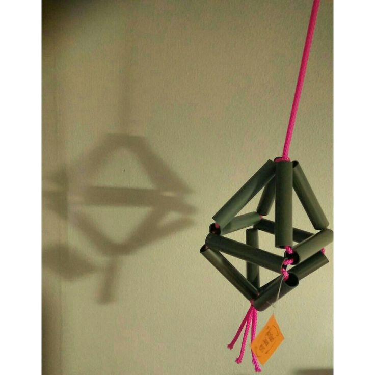 Hanged diamond shape, from recycled finished paper rolls #recycling #recycledmaterial #diamond #deco#handmadeshop #waitingyourorders