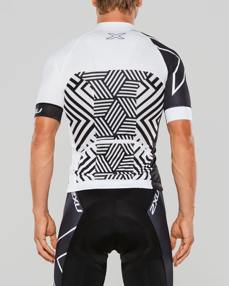 Rear view cycling jersey design by Bzak Cycling for 2XU USA