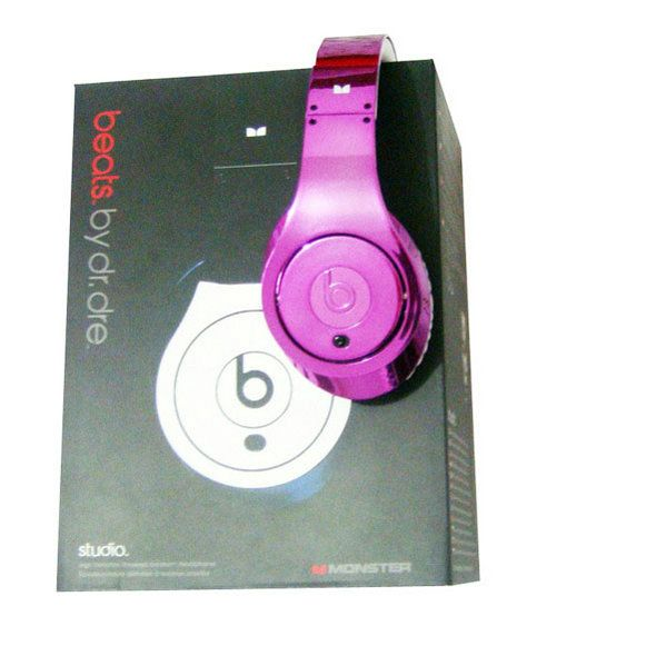 Beats By Dr Dre Colorware Chrome HotPink Studio Headphone