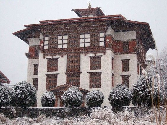 National Library of Bhutan. Completed in 1984, the National Library of Bhutan is also technically a Buddhist temple, and thestructure is intended to integrate the thre...