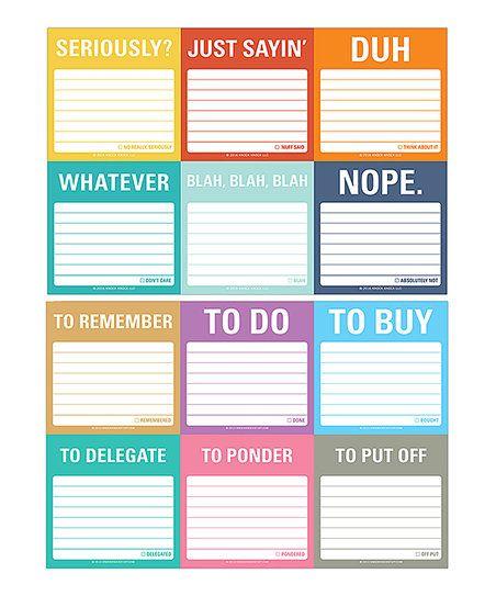 Knock Knock Its All Good & Accomplish Sticky Note Set | zulily