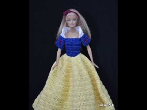 Blue collection - Colete para a barbie de croche - LiiArt - YouTube