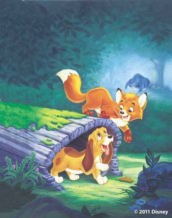 The Fox and the Hound! The movie that made me realize my need for my very own pet fox!!