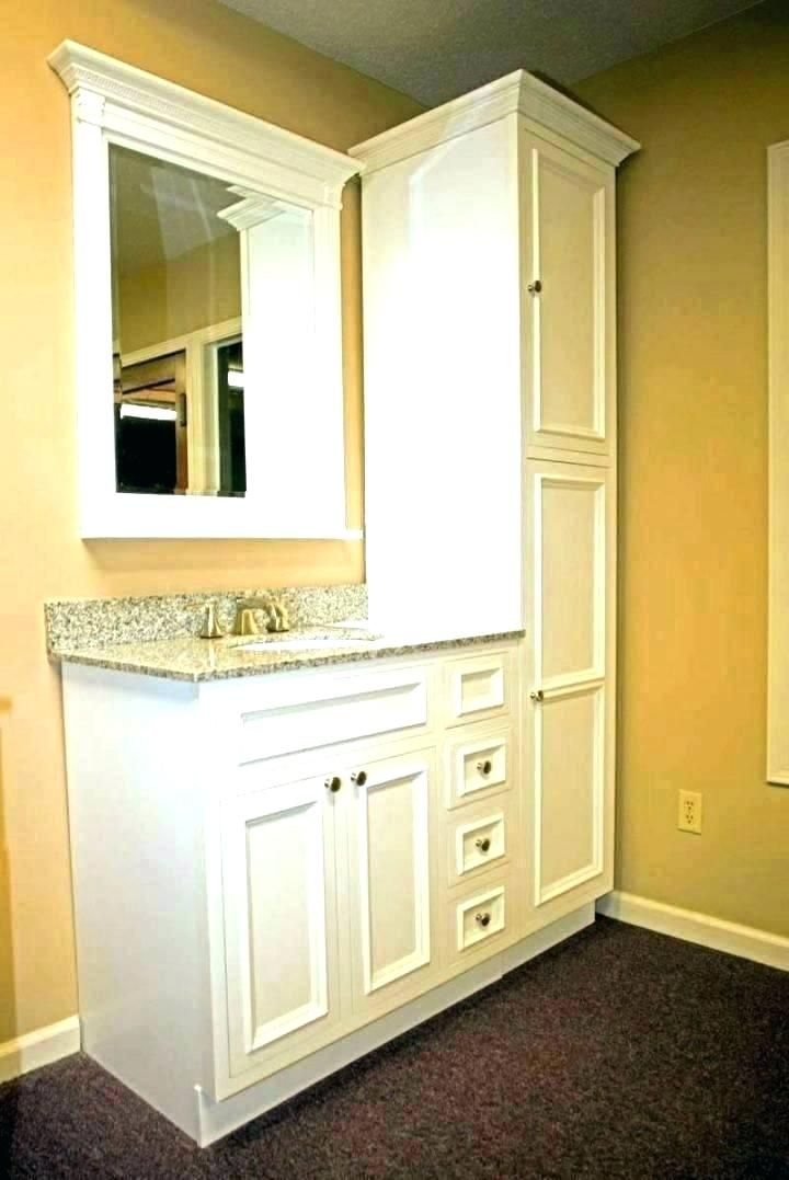 Vanity Tower Cabinet Bathroom With Top Built In Linen Ca
