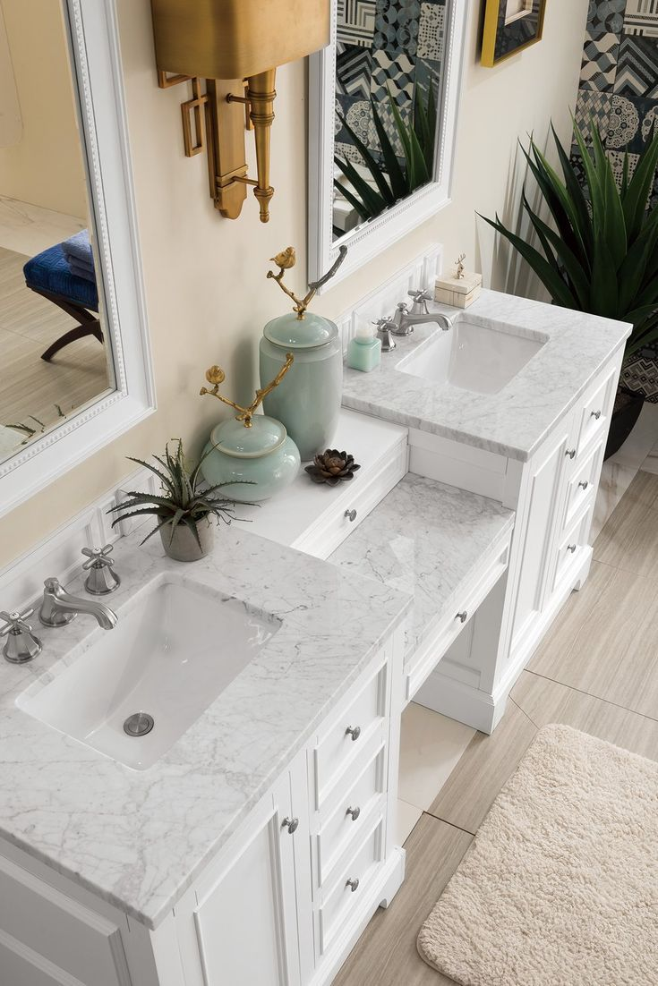 82 De Soto Bright White Double Sink Bathroom Vanity In 2019