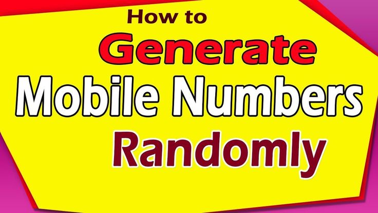 How to Generate Mobile Numbers Randomly #download #FREE #mobile #number #generator #cellphone #web #list #Howto #how #Mobile #Randomly #generator #software #sequential #indian #extractor #fast #quick #easy #software #tool #video #business #marketing #sms #smsmmarketing #growth #hacking  How to Generate Mobile Numbers Randomly #download #FREE #mobile #number #generator #cellphone #web #list #Howto #how #Mobile #Randomly #generator #software #sequential #indian #extractor #fast #quick #easy…