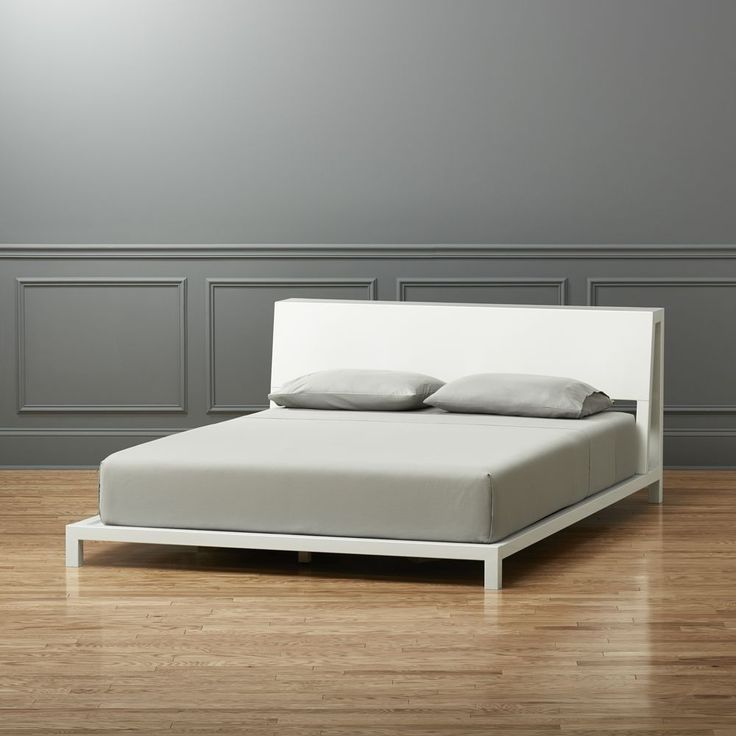 alpine white queen bed - Full Size White Bed Frame
