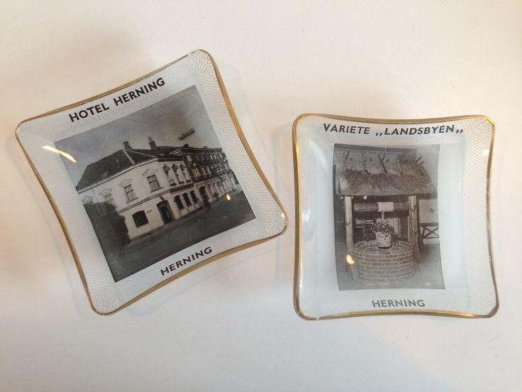 To dejlige kuvert askebægere fra Hotel Herning og Landsbyen. En Scotsman?