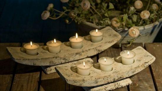 originelle Kerzen Deko Ideen Haus Garten