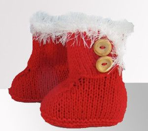 Christmas Baby Booties Knitting Patterns