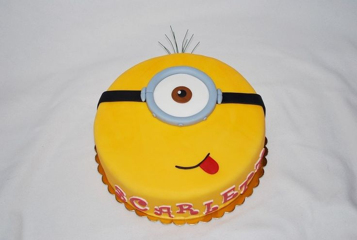 Jednoduchá mimoň torta (Easy minion cake)