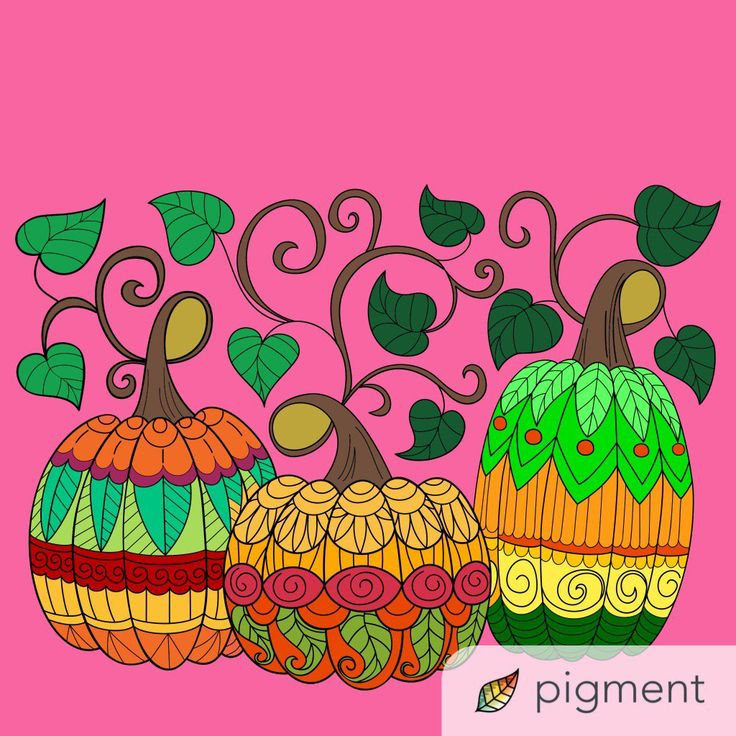 On Twitter Chose For This Pumpkin Coloring Page From Our New Autumn II Book Have You Tried The Pigment App Yet Its Best Adult