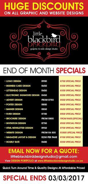Little Blackbird Design Studio: Graphic and Website Design Special - HUGE DISCOUNT...