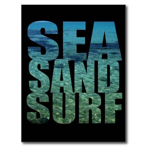 Sea Sand Surf Postcard