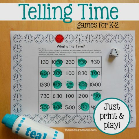 Stupendous image with regard to telling time printable games