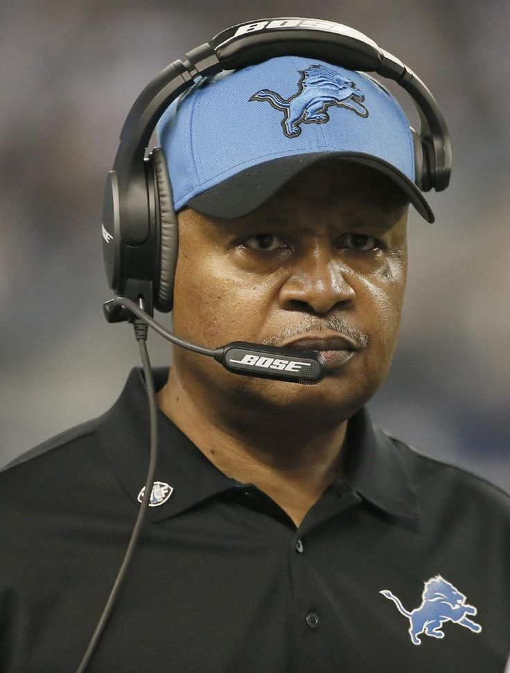 Detroit Lions head coach Jim Caldwell watches during the second half of an NFL wildcard playoff football game against the Dallas Cowboys, Sunday, Jan. 4, 2015, in Arlington, Texas. (AP Photo/Tony Gutierrez)