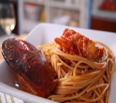 Lidia's Italy: Recipes: Lobster Fra Diavolo with Spaghetti | fish & seafood | Pinterest | Dads ...