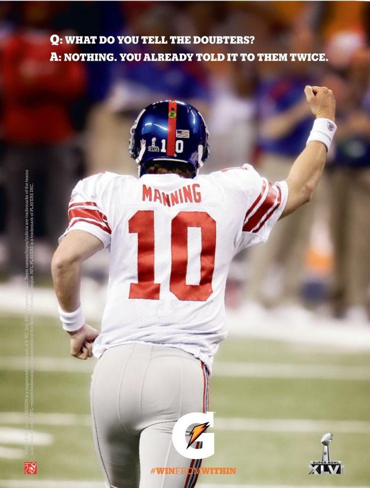 Gatorade G Moment Eli Manning [image]