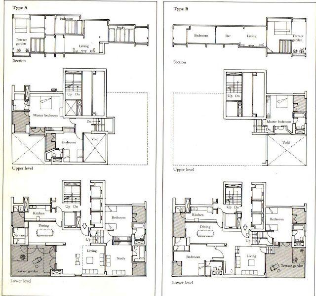 Charles Correa - Kanchanjunga Apartments-dos tipologias planta
