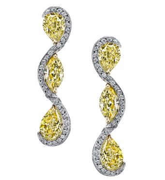 Harry Kotlar Fancy Yellow Pear Shape Sunny Drop Earrings 9Vvmnw