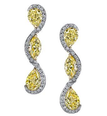 Harry Kotlar Fancy Yellow Pear Shape Sunny Drop Earrings ConrrGr6g