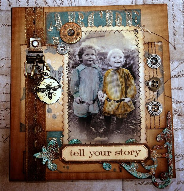 CREATIVITY IS CONTAGIOUS: GOT INK??? HOW ABOUT MAKING A VINTAGE CARD?
