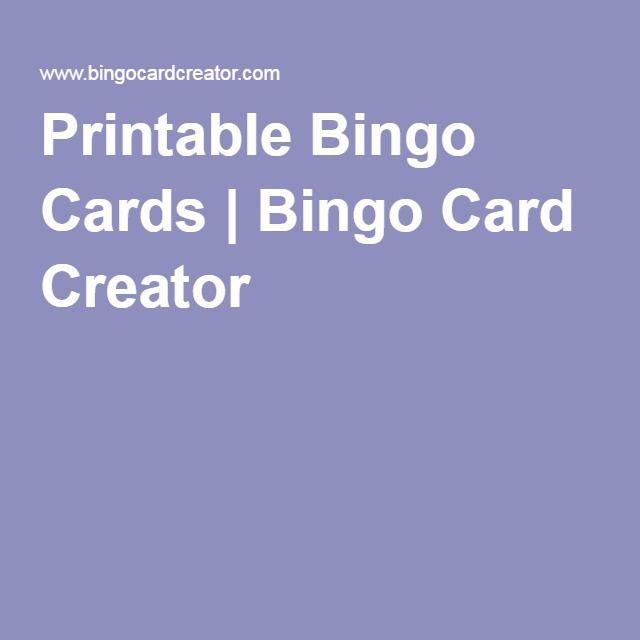 Printable Bingo Cards | Bingo Card Creator