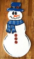 Univ. of Kentucky Basketball Snowman Door Hanger by WhereTheSmilesHaveBeen.com #BBN