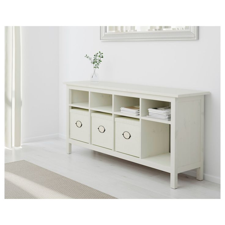 HEMNES Console table - white stain - IKEA in 2020 | White console table ikea, Ikea console table ...