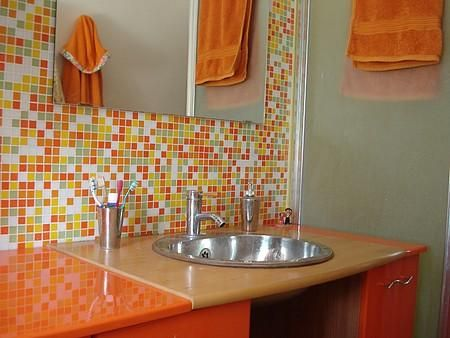 41 Best Bathroom In Orange Color Images On Pinterest Bathrooms Decor Bathroom Ideas And