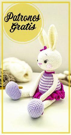 Crochet Bunny Pattern, Crochet Rabbit, Crochet Birds, Crochet Food, Crochet Bear, Crochet Baby Booties, Crochet Crafts, Crochet Projects, Crochet Animals